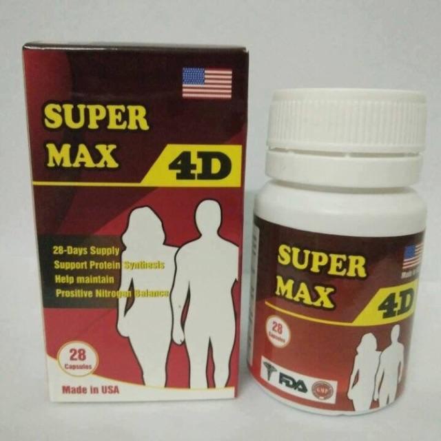 Thực phẩm chức năng tăng cân Super max 4D