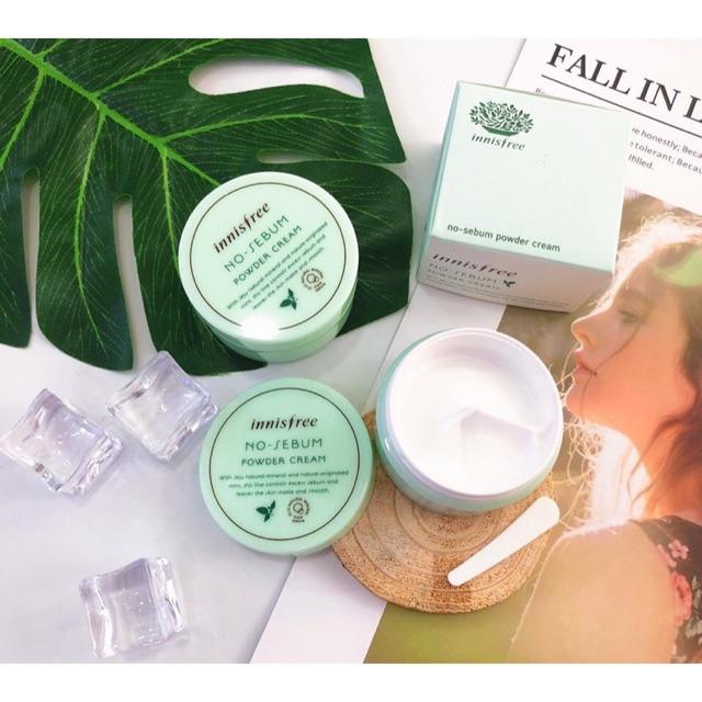 Innisfree No – Sebum Powder Cream là dòng kem dưỡng tuyệt vời dành cho làn da dầu
