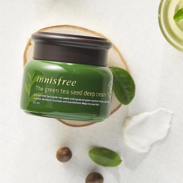 Kem dưỡng ẩm The Green Tea Seed Deep Cream của Innisfree