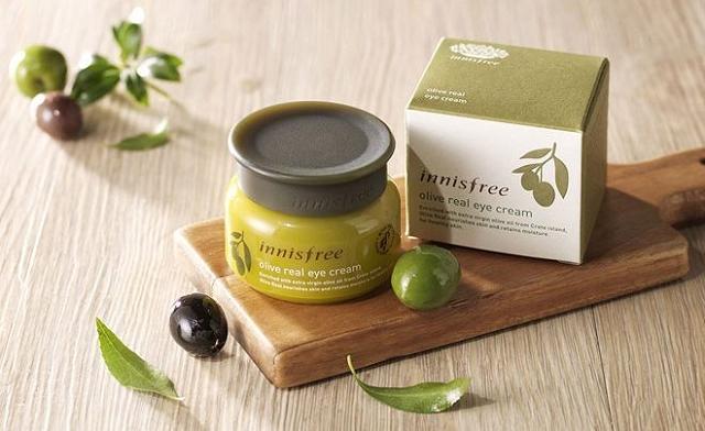 Kem chống lão hóa Innisfree Olive Real Eye Cream EX giúp nâng niu làn da mỏng mắt vùng mắt