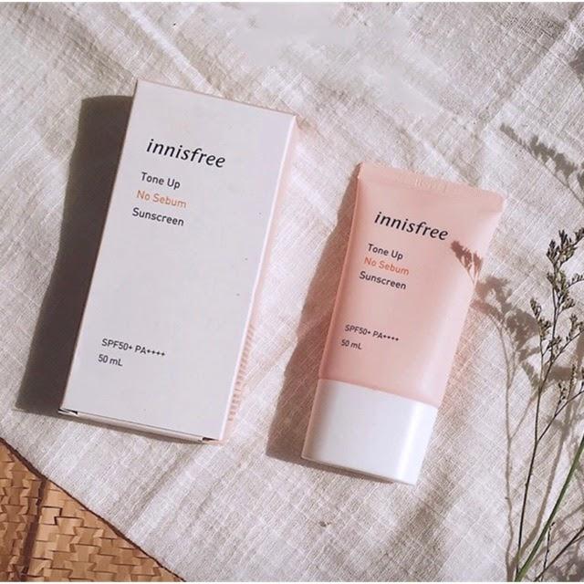 Chống nắng Innisfree Tone Up màu hồng có thành phần thiên nhiên an toàn và lành tính với làn da của bạn