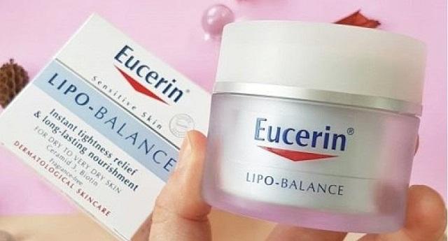 Eucerin Lipo Balance không chứa cồn, dầu khoáng, silicon hay hương liệu