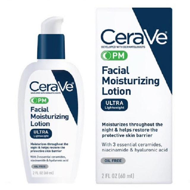 CeraVe Facial Moisturizing Lotion PM có thiết kế dạng vòi xịt rất thuận tiện khi sử dụng