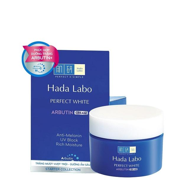 Hada Labo Perfect White Arbutin Cream mang đến khả năng cấp ẩm vượt trội cho làn da của bạn