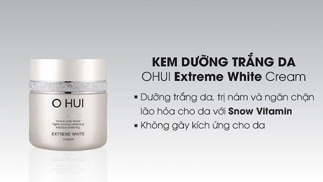 kem dưỡng trắng da mặt