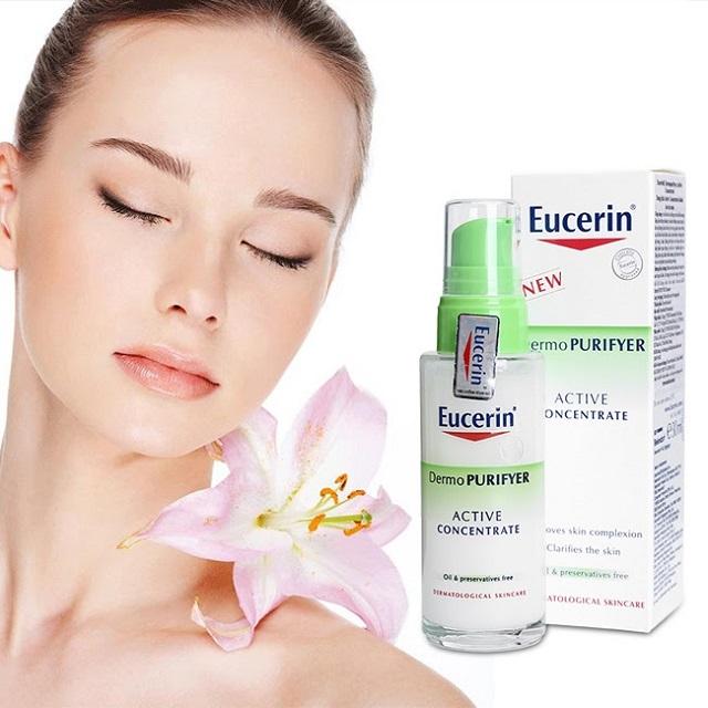 Kem trị mụn cho da dầu Eucerin Dermopurifyer Active Concentrate