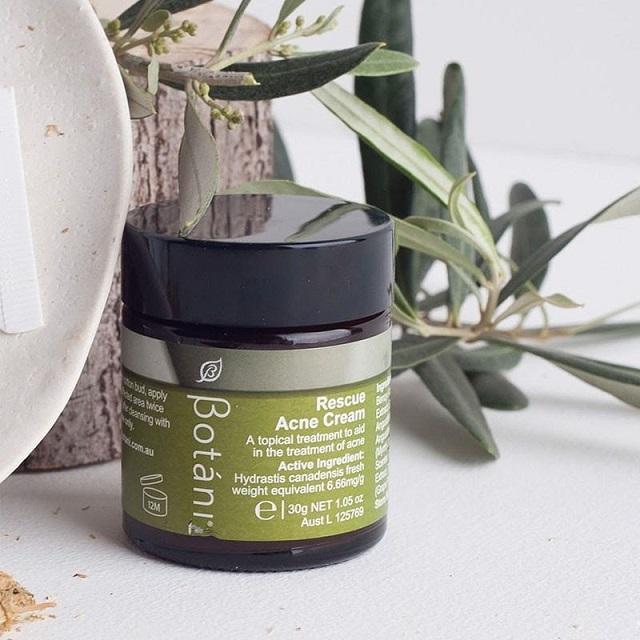 Kem trị mụn hữu cơ cho da dầu Botani Rescue Acne Cream