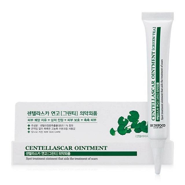 Kem trị thâm mụn Skinfood Centellascar Ointment Green Tea