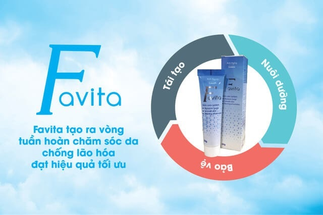 Favita ra đời như một loại kem chống lão hóa hoạt động theo cơ chế chăm sóc và dưỡng ẩm cho làn da