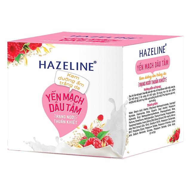 Kem dưỡng ẩm Hazeline Yến mạch – Dâu tằm dưỡng ẩm trắng da
