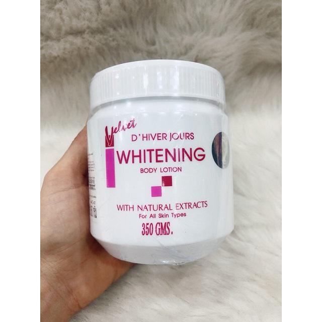 Kem dưỡng ẩm toàn thân Velvet D'Hiver Jours Whitening Body Lotion