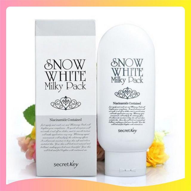 Kem dưỡng trắng da Secret Key Snow White Milky Pack 200g có khả năng làm trắng tức thì