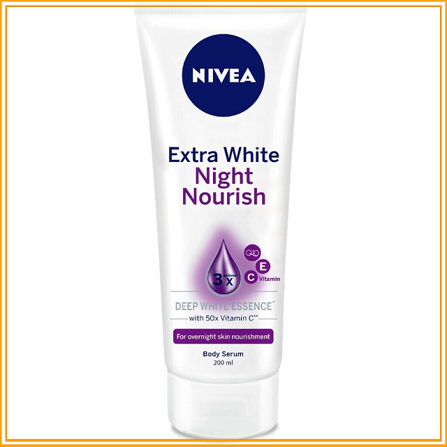 Nivea Extra White Night Nourish 200ml giúp dưỡng trắng da ban đêm
