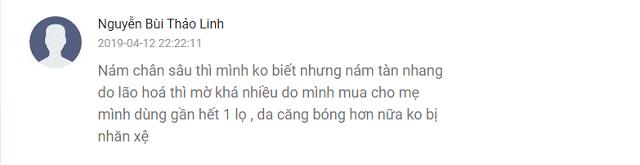 Đánh giá từ tài khoản Nguyễn Bùi Thảo Linh về sản phẩm kem trị nám Dongsung, Hàn Quốc