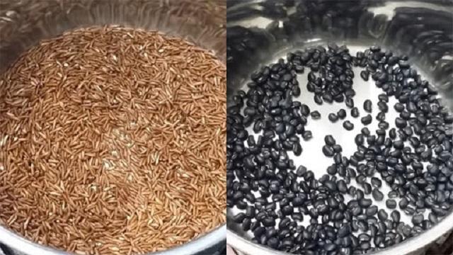 bí quyết làm trà gạo lứt đỗ đen giảm cân
